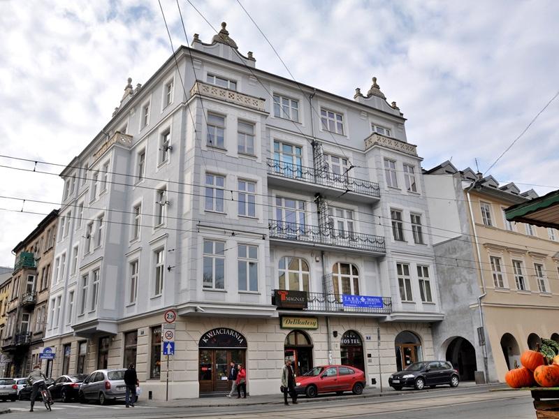 Tara Hostel Kraków - widok z ulicy